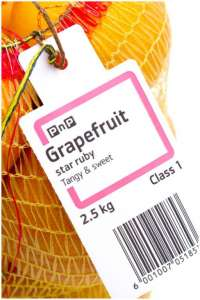 Food barcode label