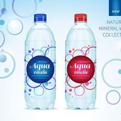 Water,Collection.,Bottle,And,Label,Vector.,Concept,And,Package,Design.
